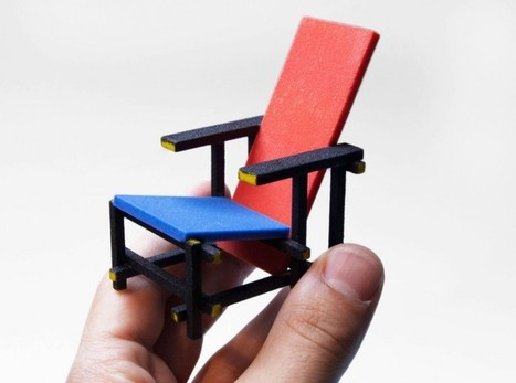 3D printed mini designer chair series by kevin spencer - designboom | Avant-garde Art, Design & Rock 'n' Roll | Scoop.it