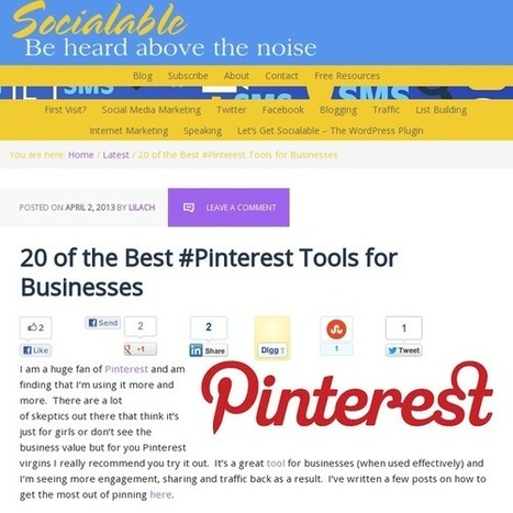 20 of the Best #Pinterest Tools for Businesses | pinterest for research | Scoop.it