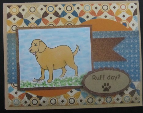 Ruff Day? Handmade Yellow Lab Card - News - Bubblews | P.S. I Love You Paper Arts and Crafts | Scoop.it