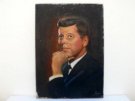 Vintage JFK signed oil painting | Oil paintings | Scoop.it