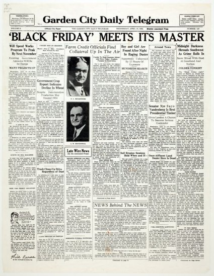 Black Friday meets its master - Kansas Memory | The Dust Bowl By Melissa K | Scoop.it