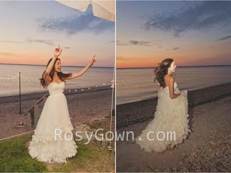 Sweep Train Wedding Dresses - RosyGown.com | Designer Bridesmaid Dress 2014 | Scoop.it