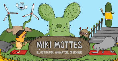 The portfolio of Miki Mottes • Illustrator, Animator, Designer • Commercial and personal projects, Growth Charts, wall decals, posters, contact details and more | Formation en Publication Assistée par Ordinateur (PAO) Formation | Scoop.it