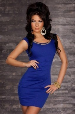 Sexy Chain Curve Fitting Cocktail Vest Dress-Blue | Refind Sexy Lingerie,Adult Erotic Clothes Shop Free Shipping | Scoop.it