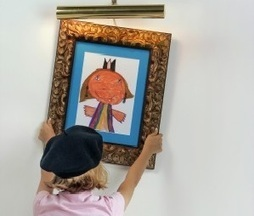 Forget the Fridge: How to Display Your Child's Artwork - Nerdy With Children | kinderart | Scoop.it