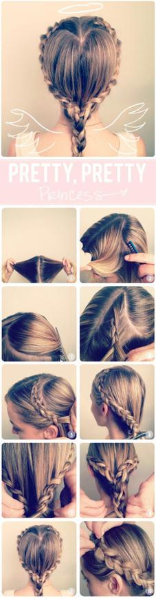 {DIY} coiffure : un coeur dans mes cheveux et une jolie tresse! | Happy Chantilly | Style | Scoop.it