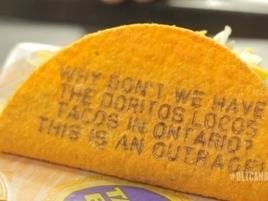 Taco Bell Brings Doritos Locos Tacos to Canada, Makes Impatient Critics Literally Eat Their Words | Scott's Linkorama | Scoop.it
