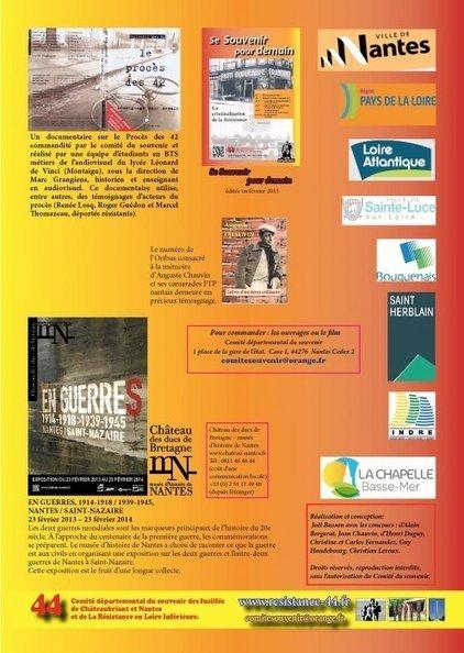 Une brochure pour le 70è anniversaire des procès de 1943 - [Comité du Souvenir des Fusillés] | Histoire 2 guerres | Scoop.it