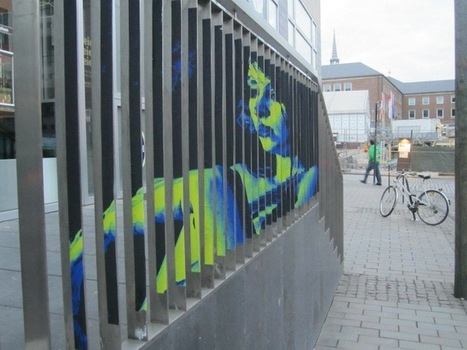 More Hidden Street Art on Railings by Zebrating | Culture and Fun - Art | Scoop.it