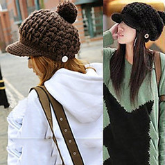Lady Winter Wool Hats Knitted Caps(Circumference 56-58cm) | Product We Love | Scoop.it