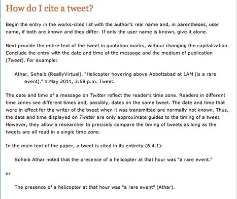 How do I cite a tweet? | The Ischool library learningland | Scoop.it