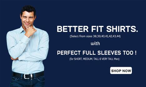 Formal Shirts for Men - Buy Formal Men's Shirts Online Shopping in India   PeprisMine   Shirts Online Shopping   Scoop.it
