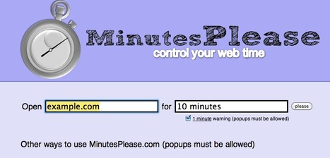 MinutesPlease.com - Manage your web time | Technology Ideas | Scoop.it