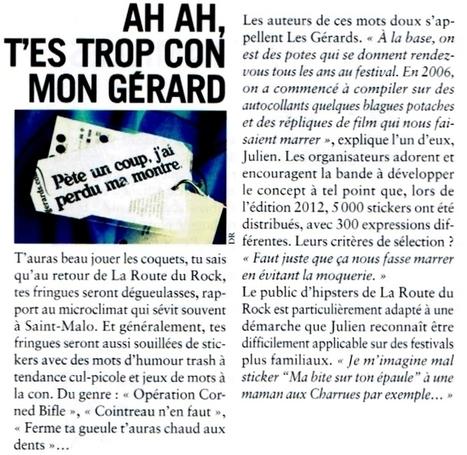 Ah ah, t'es trop con mon Gérard | BIKINI | Les Gérards | Scoop.it