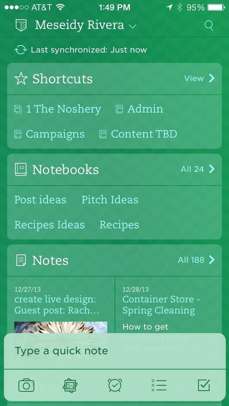 How to Make a Content Calendar Using Evernote - The Noshery   evernote   Scoop.it