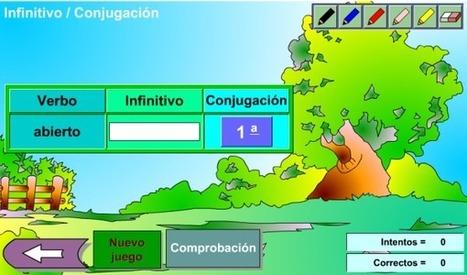 Interactivo para repasar las conjugaciones y la forma no verbal del infinitivo | paprofes | Scoop.it