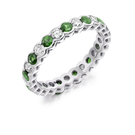 emerald and diamond eternity ring loyes diamonds made of white gold | Engagement rings Dublin Blog. | Scoop.it