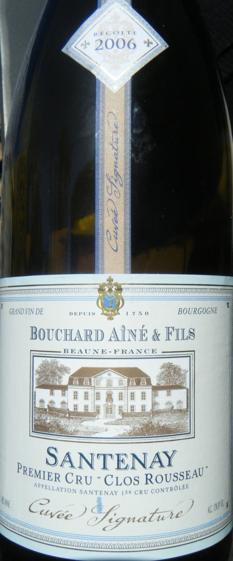 Bouchard Aîné & Fils 2006 Santenay | The magical world of wines ... | BIANCA BOUCHARD | Scoop.it