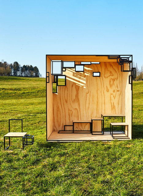 JOINTED CUBE Steel Outdoor Installation | Communication design | Scoop.it