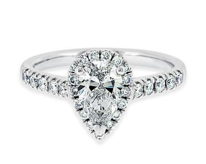 VR1021 Pear Cut Diamond Ring | Bespoke Diamonds | Engagement Rings Dublin | Scoop.it
