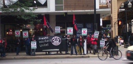 Chicago: Freshii Union Busting Continues; Workers Picket | corp camp | Scoop.it