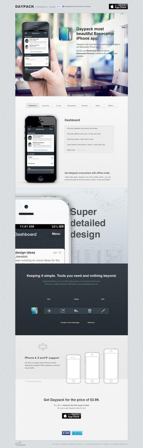 30 Beautiful Mobile App Websites for Design Inspiration | SwiftGraphics | Scoop.it