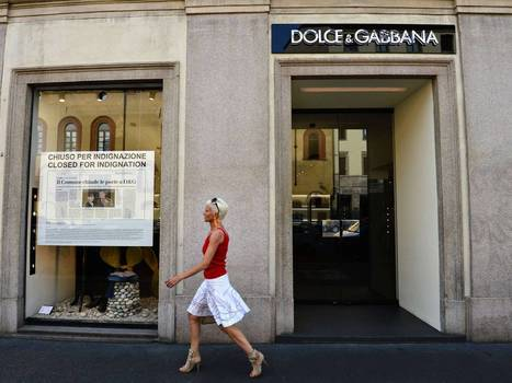 Indignant Dolce & Gabbana shut up shop in protest   Intriguing Connections   Scoop.it