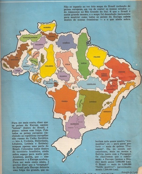 The true size of Brazil. - Maps on the Web | What's new in Visual Communication? | Scoop.it