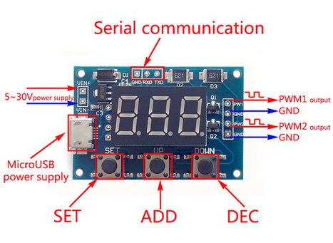 2-Channel Square Wave Signal Generator Module PWM Pulse Frequency Adjustable 5-30V - Motor Driver Module - Arduino, 3D Printing, Robotics, Raspberry Pi, Wearable, LED, development board Black Frida...   Modules   Scoop.it