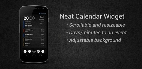 Neat Calendar Widget - Applications Android sur Google Play | Android Apps | Scoop.it