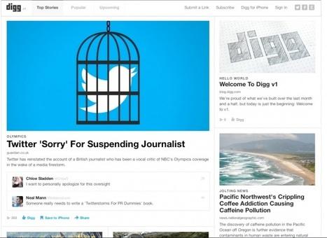 Il Ritorno di Digg, la versione v.1 è online | InTime - Social Media Magazine | Scoop.it