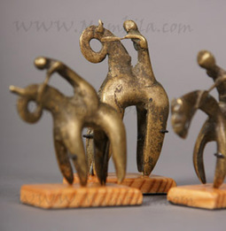 Figuras bronce- Jinetes Kotoko   Desarrollo mediante el Arte   Scoop.it