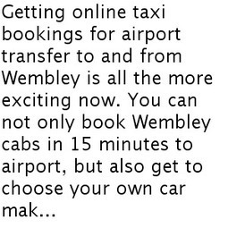 Airport Transfer Cabs in Wembley | Travel Service | Scoop.it