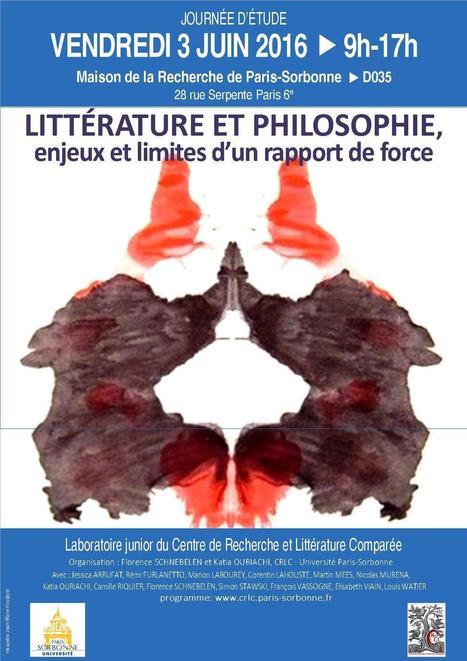 Littérature et philosophie, enjeux et limites d'un rapport de force, JE 03/06, Paris Sorbonne (labo junior) | Littérature comparée | Scoop.it