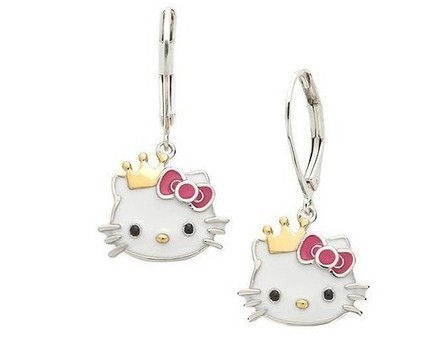 Aliexpress.com : Buy Cute Hello Kitty Earring with Crown from Reliable hello kitty earring suppliers on  Miss Lyra | Hello Kitty | Scoop.it
