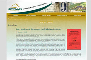 Les archives départementales des Ardennes lancent un appel à la collecte de documents du conflit de 1914 1918. | Auprès de nos Racines - Généalogie | Scoop.it