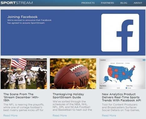 Facebook s'offre SportStream   mySocialTV   Scoop.it