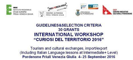 Becas para Workshop internacional en Italia | Congresos, Educación y Tendencias en Turismo | Scoop.it