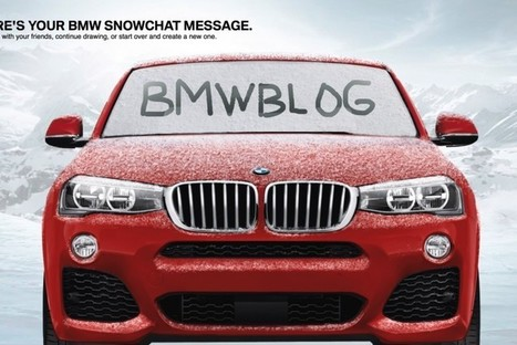 BMW's Snapchat-Inspired Campaign Aims To Attract Young Customers | Digital & Social Media Case | Scoop.it