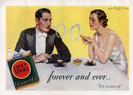 Amazing smoke rings in Lucky Strike ads - Vintage Cigarettes Posters | I love cigarettes | Scoop.it