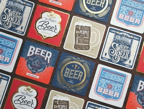 For Lovers Of Beer And Typography: 'Beer Press' Coasters | What's new in Visual Communication? | Scoop.it