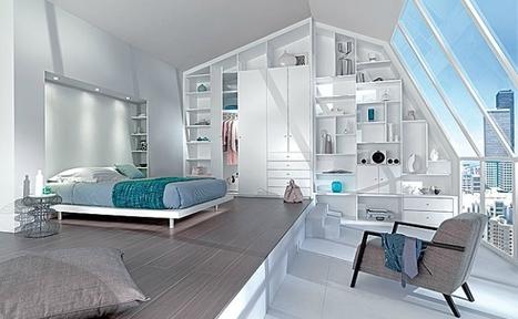 [inspiration] La chambre joue à cache-cache avec le mobilier | Immobilier | Scoop.it