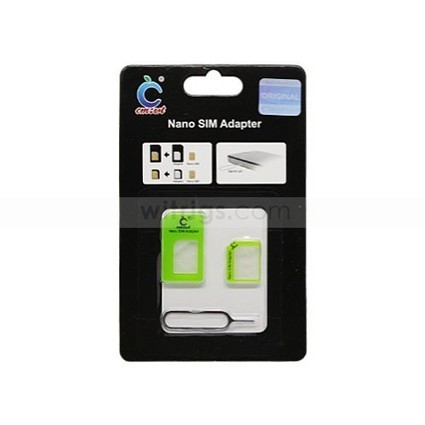 Nano SIM Card Adapter with Ejector Pin for Apple iPhone 5 Green   Gadgets & Professional Repair Tools for smartphones   Scoop.it