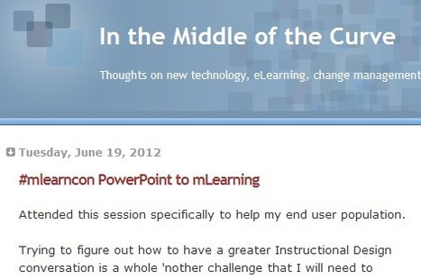 In the Middle of the Curve: #mlearncon PowerPoint to mLearning | Inclusive teaching and learning | Scoop.it