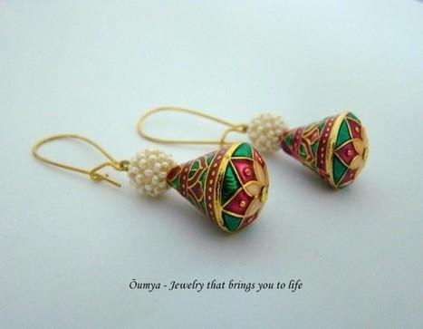 Pink meenakari earrings - Craftsia - Indian Handmade Products & Gifts | Indian Handmade Jewelry | Scoop.it