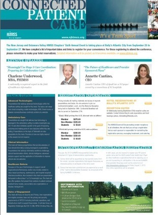 NJ HIMSS - Fall Conference 2013 ! | Patient Centred Care | Scoop.it