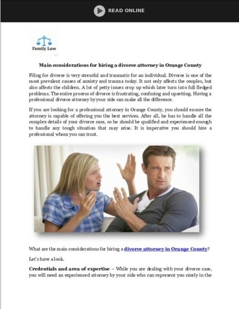 Divorce Attorney in Orange County - PDF | Child Custody Attorney Irvine | Scoop.it