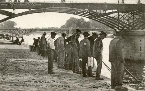 CPA – Les P'tits métiers de Paris – les Pêcheurs à la ligne | Cartes Postales Anciennes | GenealoNet | Scoop.it