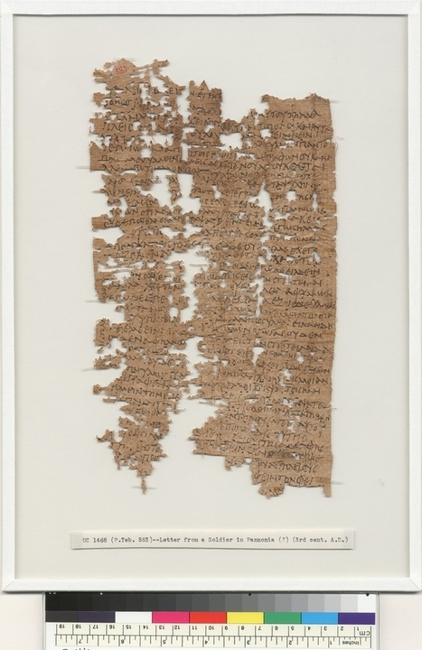 Ancient Egyptian Soldier's Letter Home Deciphered | Egyptology and Archaeology | Scoop.it