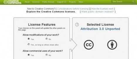 Creative Commons license chooser, elige tu propia licencia de CC | Recull diari | Scoop.it